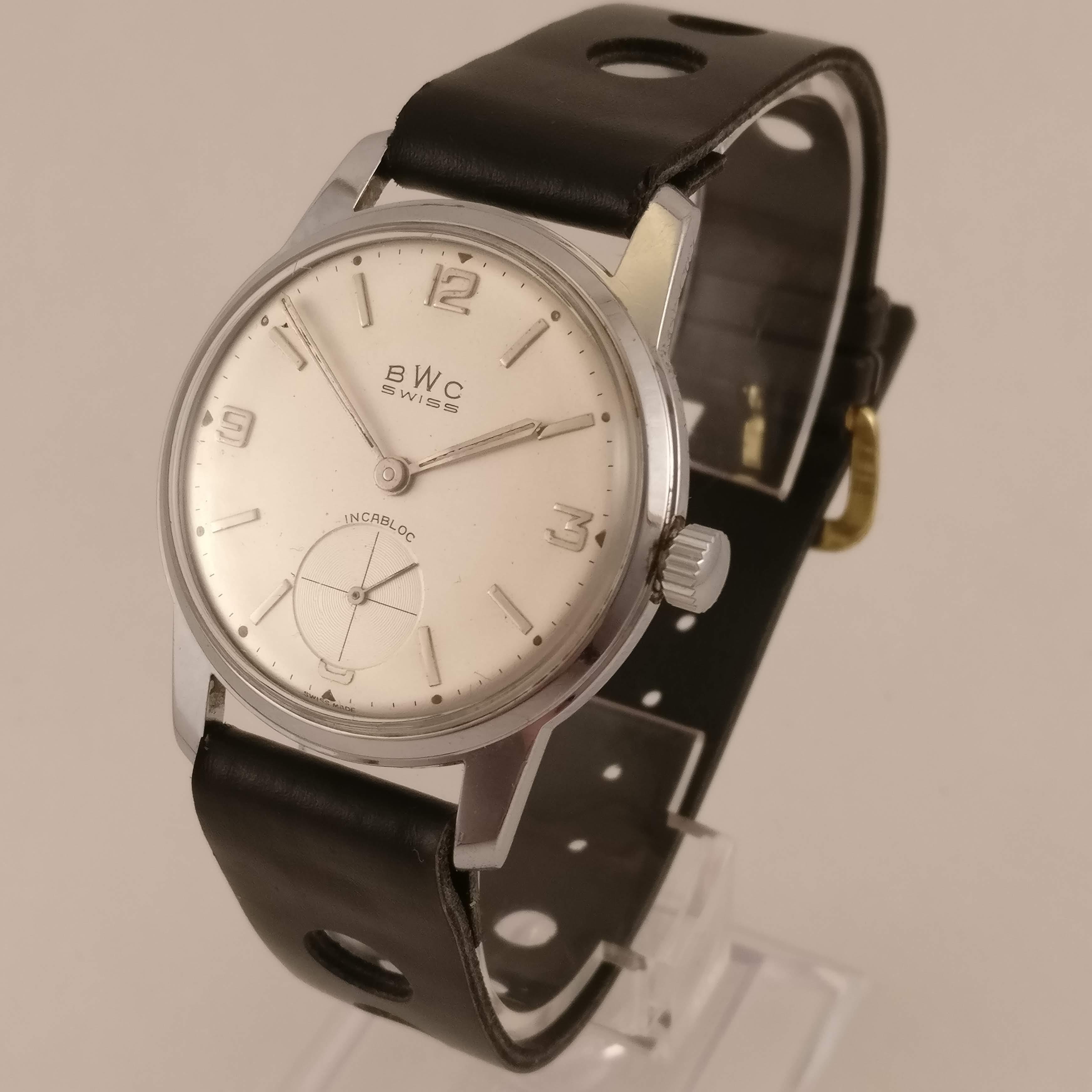 Bwc Swiss Vintage Heren Horloge